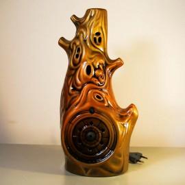 Ионизатор воздуха Лесной домик Тёмный со светильником