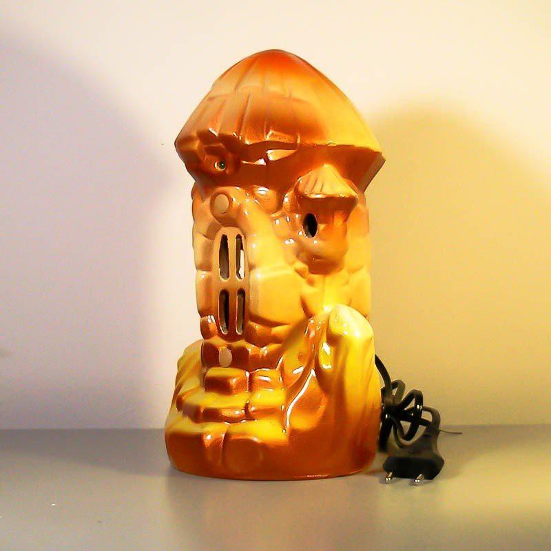 Ионизатор воздуха Морской домик Коричневый со светильником